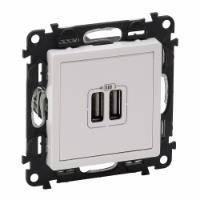 Розетка Legrand USB для зарядки двойная Белый, Valena LIFE