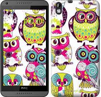 """Чехол на HTC Desire 816 Совы """"1805u-169"""""""