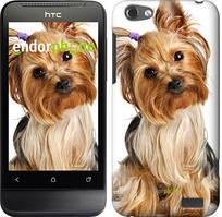 "Чехол на HTC One V t320e Йоркширский терьер с хвостиком ""930u-227"""