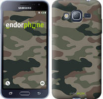 Чехол на Samsung Galaxy J3 Duos (2016) J320H Камуфляж v3, Зеленый