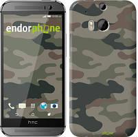 "Чехол на HTC One M8 Камуфляж v3 ""1097c-30"""