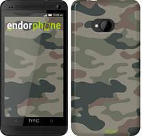 "Чехол на HTC One M7 Камуфляж v3 ""1097c-36"""