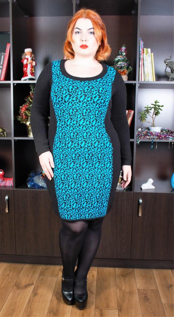 вязаные платья большого размера яна р 52 54 цена 369 грн купить в