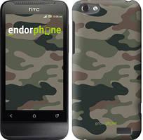 """Чехол на HTC One V t320e Камуфляж v3 """"1097u-227"""""""