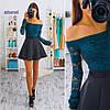 Костюм юбка неоприн блуза гипюр., фото 7