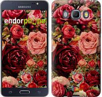 Чехол на Samsung Galaxy J5 (2016) J510H Красный, Цветущие розы