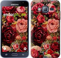 Чехол на Samsung Galaxy J3 Duos (2016) J320H Красный, Цветущие розы