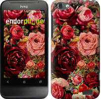 "Чехол на HTC One V t320e Цветущие розы ""2701u-227"""