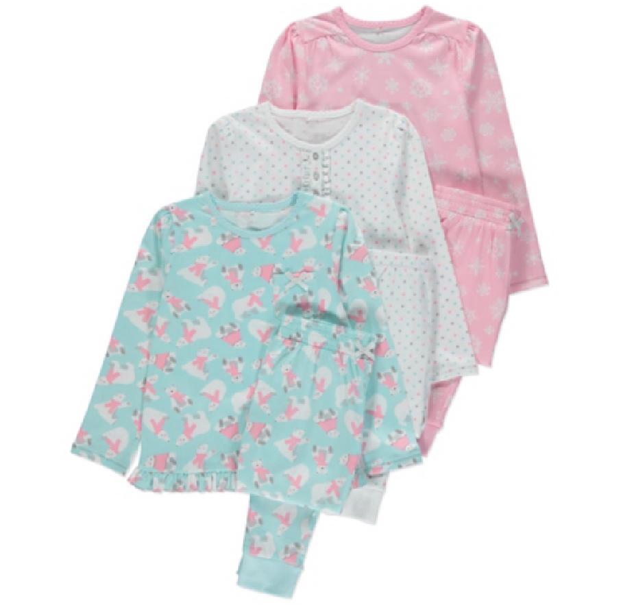 Пижамы детские с длинным рукавом для девочек 5-6-7-8 лет George (Англия)