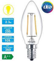 Лампа светодиодная декоративная Philips LED Fila ND E14 2.3-25W 2700K 230V B35 1CT APR