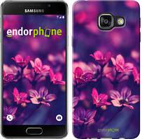 "Чехол на Samsung Galaxy A3 (2016) A310F Пурпурные цветы ""2719c-159"""