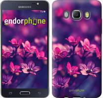 Чехол на Samsung Galaxy J5 (2016) J510H Розовый, Пурпурные цветы