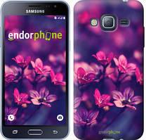 Чехол на Samsung Galaxy J3 Duos (2016) J320H Розовый, Пурпурные цветы