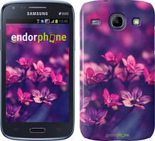 Чехол на Samsung Galaxy J1 Ace J110H Розовый, Пурпурные цветы