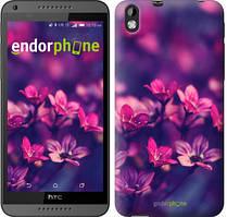 "Чехол на HTC Desire 816 Пурпурные цветы ""2719u-169"""