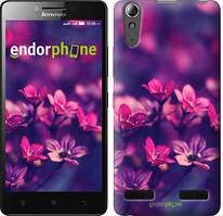 """Чехол на Lenovo A6000 Пурпурные цветы """"2719c-103"""""""