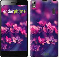 """Чехол на Lenovo A7000 Пурпурные цветы """"2719c-120"""""""