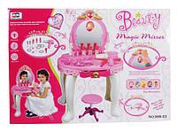 Трюмо детское 008-23, стульчик, свет/звук, набор косметики, аксессуары, пластик, для детей от 3 лет