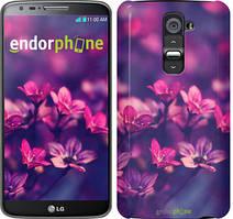 """Чехол на LG K10 / K410 Пурпурные цветы """"2719u-349"""""""