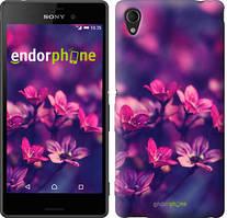 "Чехол на Sony Xperia M4 Aqua Пурпурные цветы ""2719c-162"""