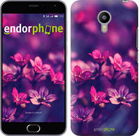 """Чехол на Meizu M2 Пурпурные цветы """"2719c-185"""""""