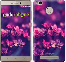 """Чехол на Xiaomi Redmi 3s Пурпурные цветы """"2719c-357"""""""