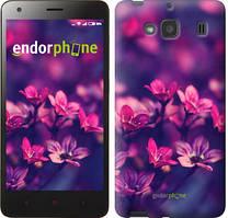 """Чехол на Xiaomi Redmi 2 Пурпурные цветы """"2719c-98"""""""
