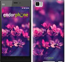 """Чехол на Xiaomi Mi3 Пурпурные цветы """"2719u-170"""""""