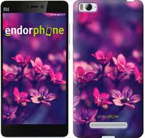 """Чехол на Xiaomi Mi4 Пурпурные цветы """"2719u-163"""""""
