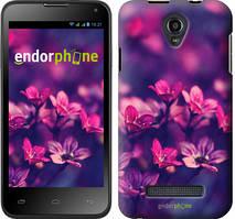 """Чехол на Fly IQ4415 Пурпурные цветы """"2719u-220"""""""