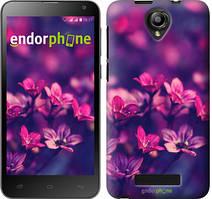 """Чохол на Fly IQ4514 Пурпурні квіти """"2719u-222"""""""