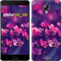 "Чехол на OnePlus 3 Пурпурные цветы ""2719u-334"""