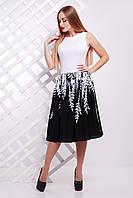 Черно-белое женское платье с принтом, фото 1