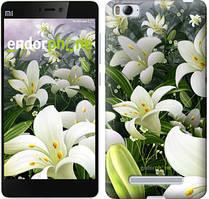 "Чехол на Xiaomi Mi4 Белые лилии ""2686u-163"""
