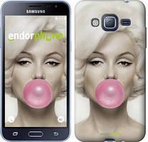 Чехол на Samsung Galaxy J3 Duos (2016) J320H Мэрлин Монро, Белый