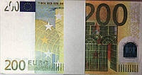 Деньги Евро сувенирные 200