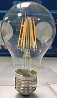 Лампа светодиодная филамент (Filament) A60 E 27, 6 Вт. прозрачная, матовая