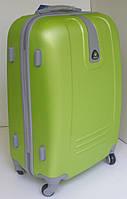 Чемодан дорожный на колесах, пластиковый, малый, зеленое яблоко