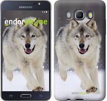 Чехол на Samsung Galaxy J5 (2016) J510H Серый, Бегущий волк