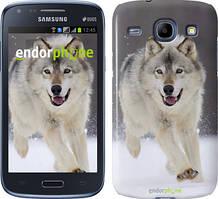Чехол на Samsung Galaxy J1 Ace J110H Серый, Бегущий волк