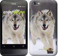 "Чехол на HTC One V t320e Бегущий волк ""826u-227"""