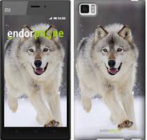 """Чехол на Xiaomi Mi3 Бегущий волк """"826u-170"""""""