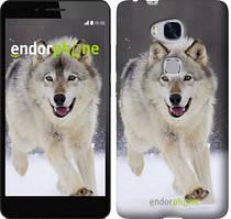 "Чехол на Huawei Honor 5X Бегущий волк ""826u-176"""