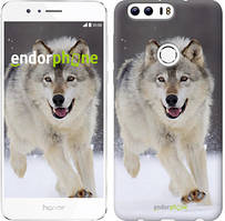 "Чехол на Huawei Honor 8 Бегущий волк ""826u-351"""