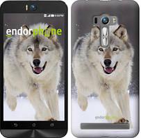"""Чехол на Asus ZenFone Selfie ZD551KL Бегущий волк """"826u-116"""""""