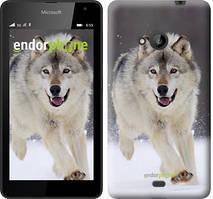 "Чехол на Microsoft Lumia 535 Бегущий волк ""826u-130"""