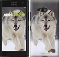 "Чехол на Nokia Lumia 650 Бегущий волк ""826c-393"""