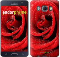 Чехол на Samsung Galaxy J5 (2016) J510H Красный, Красная роза