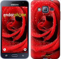 Чехол на Samsung Galaxy J3 Duos (2016) J320H Красный, Красная роза