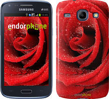 Чехол на Samsung Galaxy J1 Ace J110H Красный, Красная роза